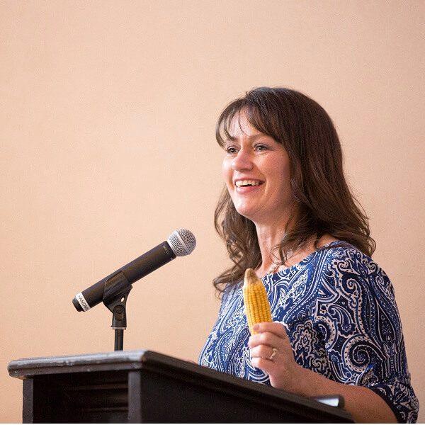 Linda Ross speaks during LDA graduation